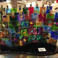 Menorah in Color Glass Array Overall