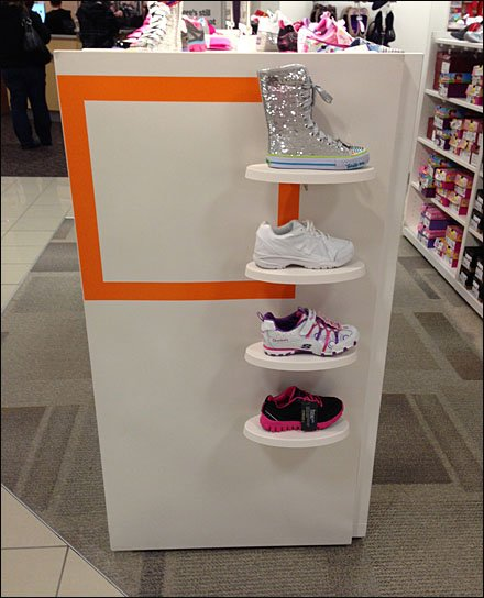 Subtle Square Branding in Shoes Main