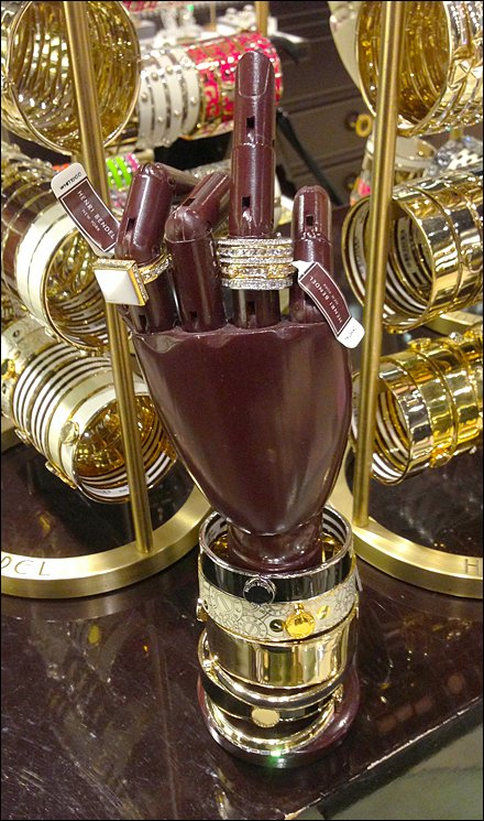 Henri Bendel Purple Posable Hand Main