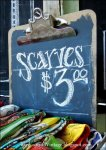 Scarves Clip Board as Chalkboard Sign