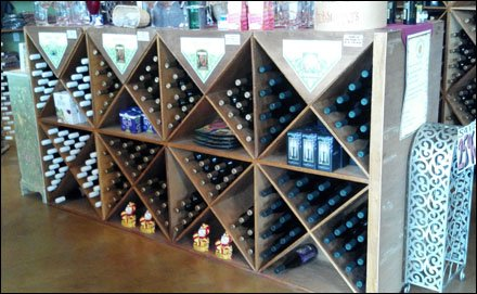 Wine Bottles in Diagonals Overall