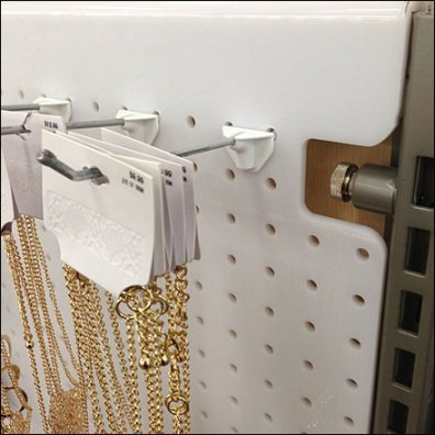 AB Attached Back Hooks for Plastic Pegboard