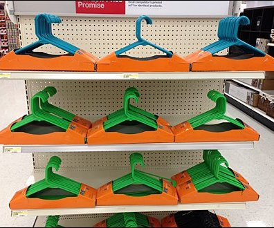 Clothes Hangers Dominate EndCap 2