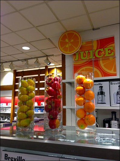 Fruit as Juicer Inducer Store Prop