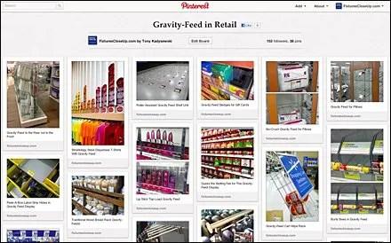 Gravity-Feed in Retail Pinterest Board