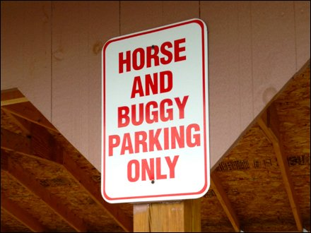 Horse and Buggy Parking Only 1