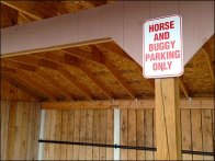 Horse and Buggy Parking Only 2