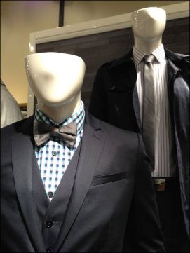 Mannequin Bow Tie vs Necktie