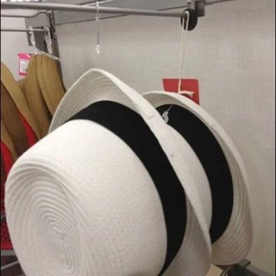 Spring Hats on Hooks Closeup 1