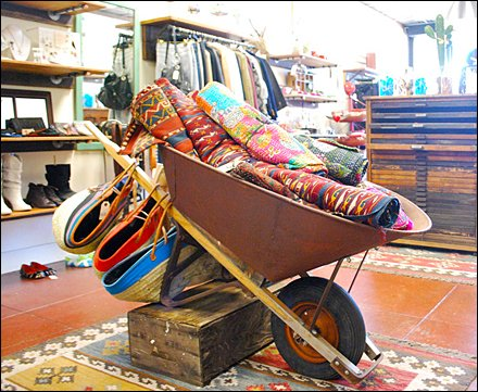Spring Wheelbarrow Merchandising