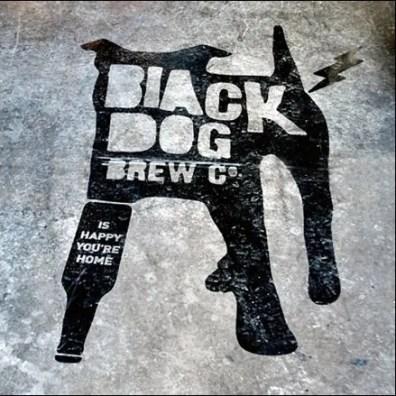 Black Dog Floor Graphic via Behance