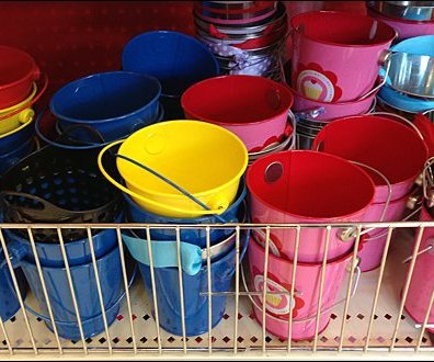 Fenced Sandbox Pails