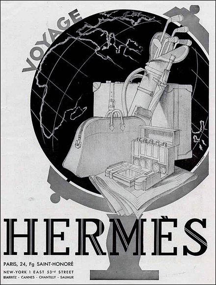 Hermes Art Deco Style Poster