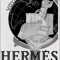 Hermes Art Deco Travel Luggage Poster1
