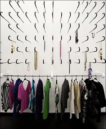 Sword Cane Merchandising Display - Kokoo Boutique, Nicosia, J-Hooked Wall