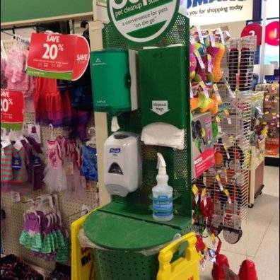 Pet as Retail V.I.P. Cleanup Station