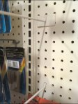 Pegboard-Mount Literature Arm