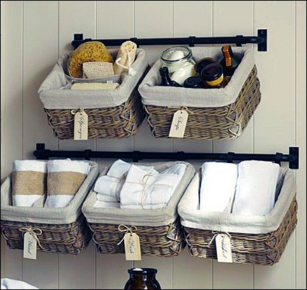 Bar Hung Wicker Baskets Main