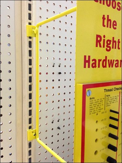 Shelf-edge Sizing Fasteners
