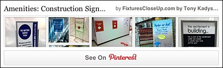 Construction Signs in Retail Pinterest Board on FixturesCloseUp