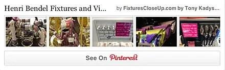 Henri Bendel Fixtures and Merchandising Pinterest Board FixturesCloseUp