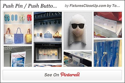 Push Button - Push Pin Pinterest Board for Fixtures Close Up