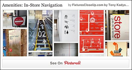 Store Navigation Pinterest Board on FixturesCloseUp