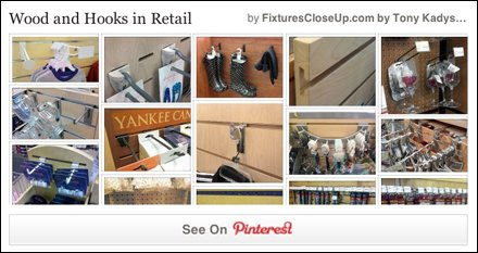 Wood and Hooks in Retail Pinterest Board from FixturesCloseUp
