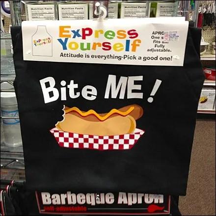 BBQ Apron Graphics Bite Me Main