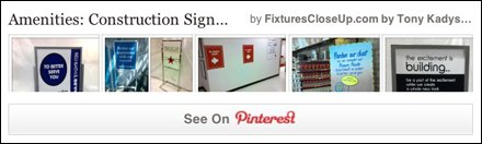 Construction Sign Pinterest Board for Fixtures Close Up