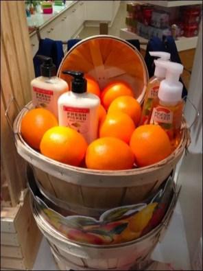 Fresh Picked Orange Bushel Basket