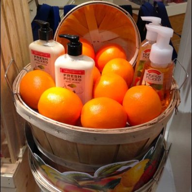 Fresh Picked Orange Bushel Basket