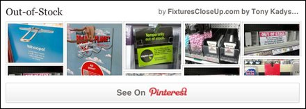 Out Of Stock Pinterest Board for FixturesCloseUp