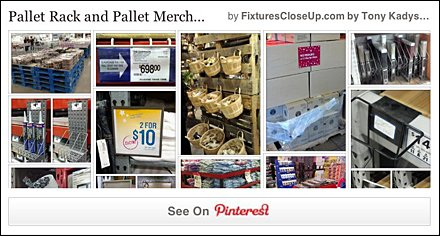Pallet Rack and Pallet Merchandising Pinterest Board on FixturesCloseUp