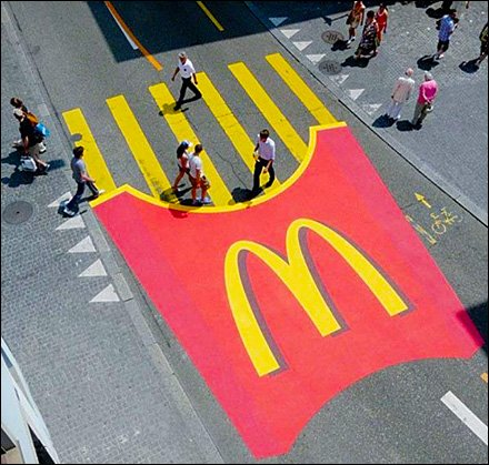 McDonald's Brands Entire Street