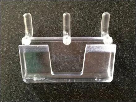 Straight Entry Plastic Pegboard Bin 5