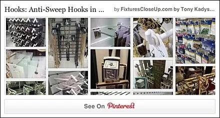 Anti-Sweep Hooks Pinterest Board for FixturesCloseUp