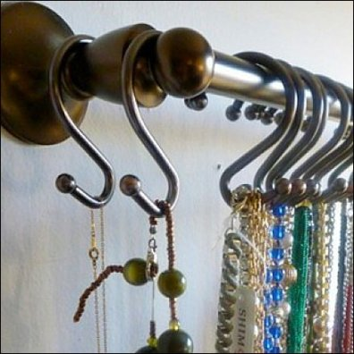 Ball-End S-Hooks in Jewelry CloseUp