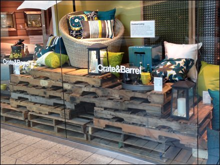 Pallet Merchandising Crate and Barrel Main
