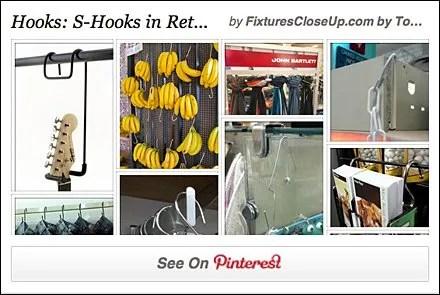 S-Hooks in Retail Pinterest Board