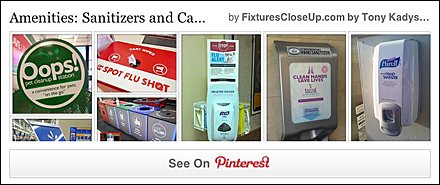Sanitizers and Cart Wipes Store Amenities Pinterest Board FixturesCloseUp