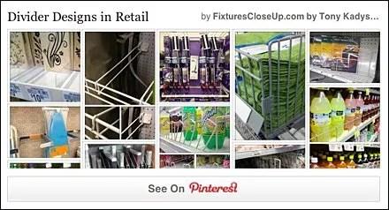 Shelf Divider Designs in Retail Pinterest Board on FixturesCloseUp