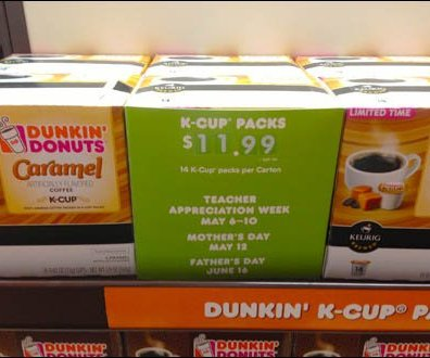 Signage Sleeve for Kerig K-Cup Coffee Aux