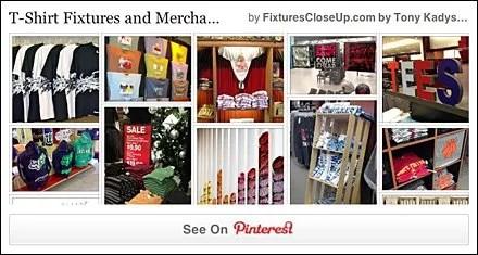 T-Shirt Merchandising and Fixtures Pinterest Board