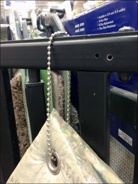 Ball Chain Store Fixtures - Ball and Chain Carpet Tether