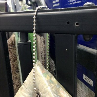 Ball and Chain Carpet Tether Closeup