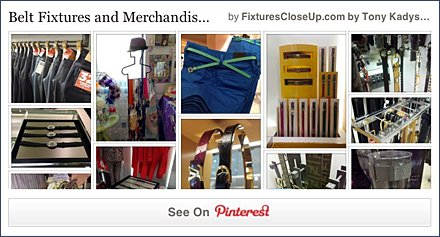 Belt Fixtures & Merchandising Pinterest Board FixturesCloseUp