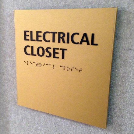 Braille Electrical Closet Sign