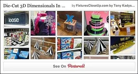 Die-Cut 3D Dimensional Pinterest Board