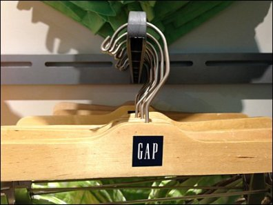 Gap Branded Clothes Hanger CloseUp